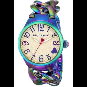 Betsey Johnson Rainbow Watch bracelet band NWT
